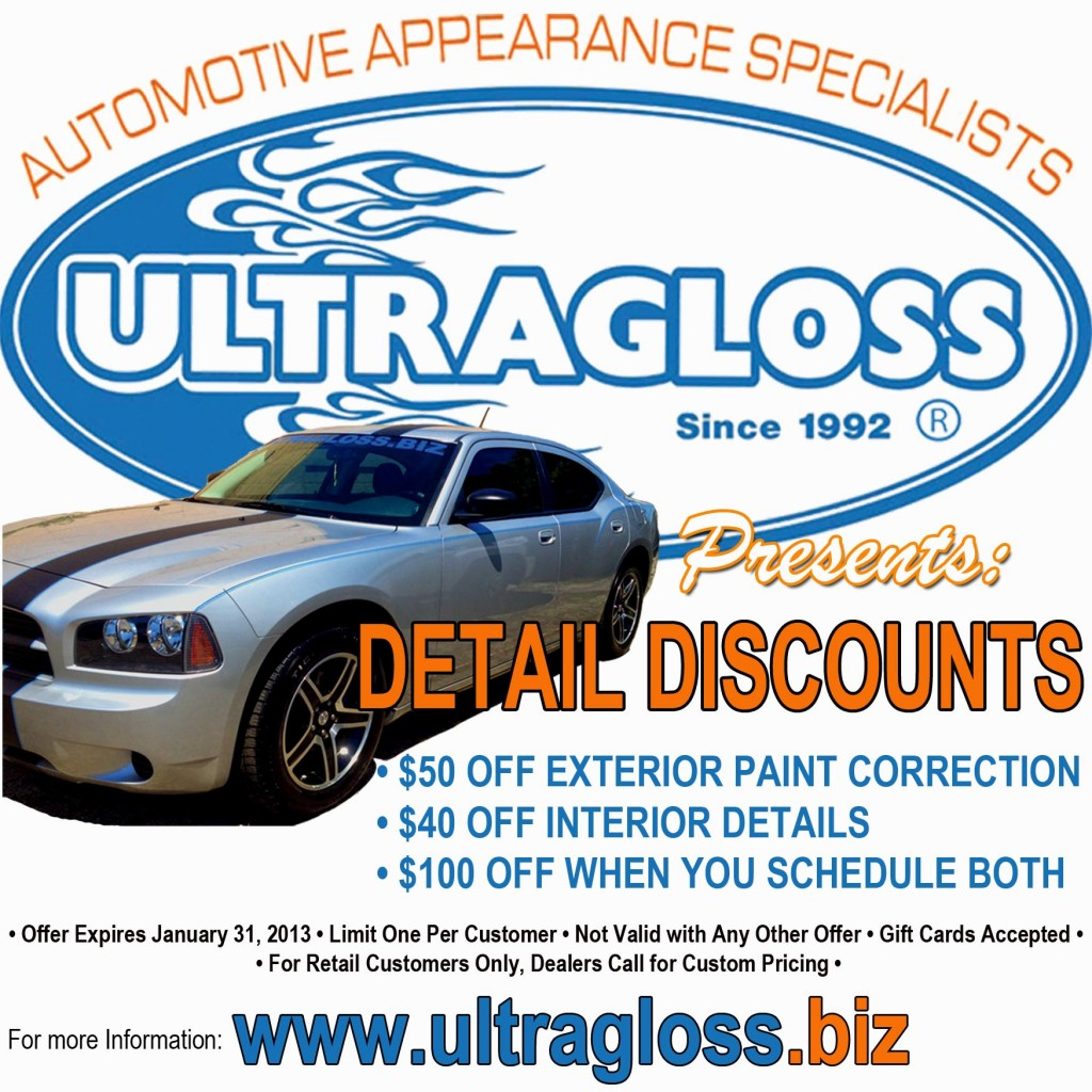 Ultragloss's Retail Shop's Detail Discounts