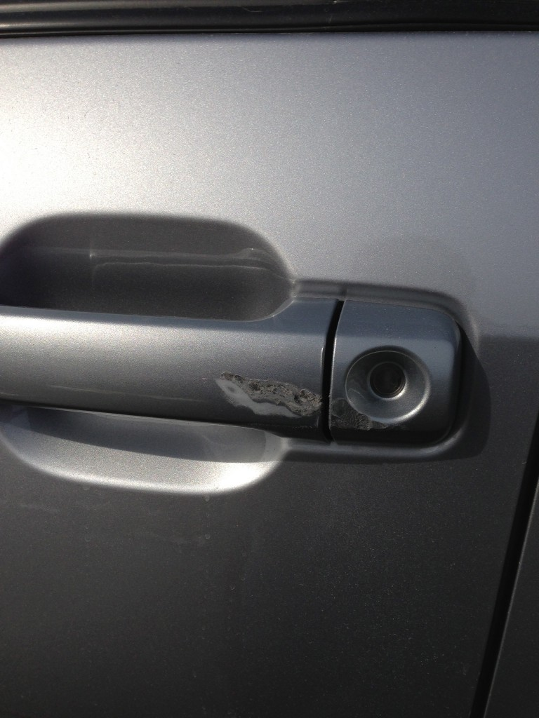 Cracked Door Handle